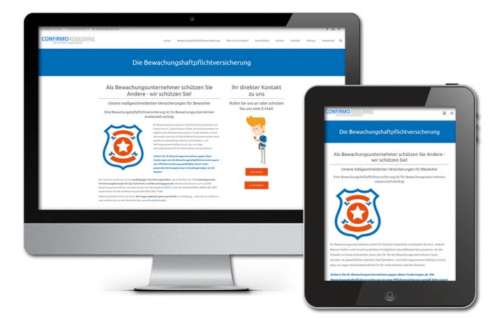 Projekt: Themenspezifische Landingpage für die Confirmo Assekuranz